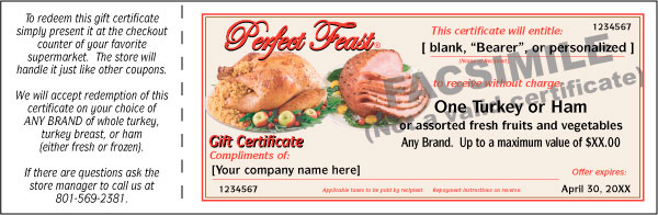 Perfect Feast Gift Certificate