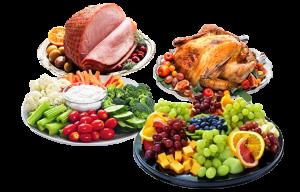 Turkey, Ham or Vegtables, Fruits