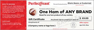Ham Gift Certificate